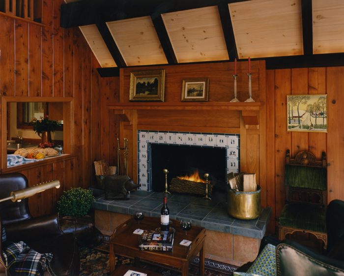 fireplace-tile-wood-panel-walls
